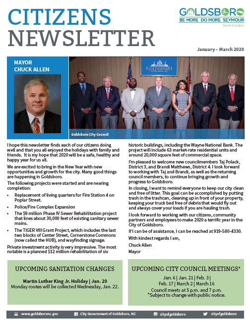 Goldsboro Citizens' Newsletter